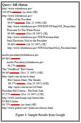 liste réponse google bill clinton