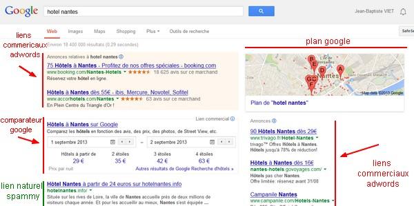 Comment google fonctionne et gagne de l 39 argent for Recherche hotel