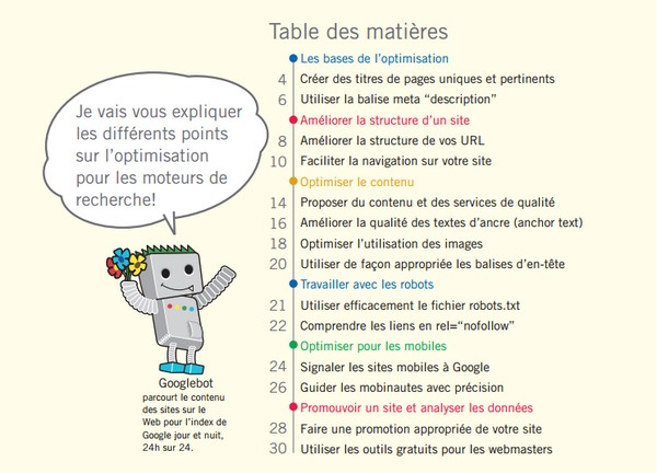 Guide officiel du référencement Google
