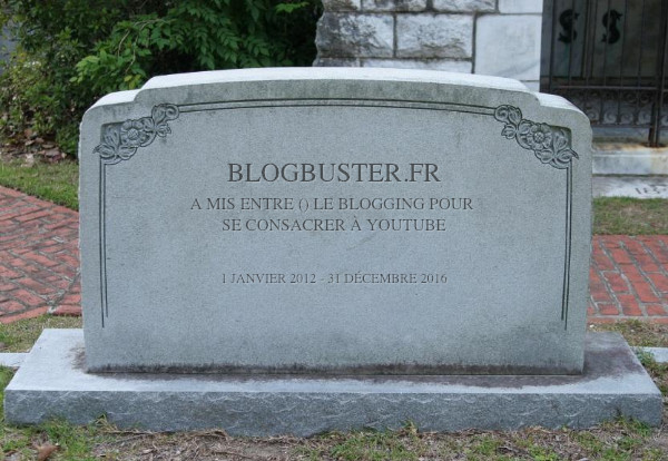 pierre tombale de blogbuster
